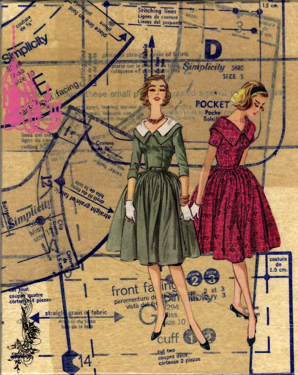 collage Sewing Patterns Vintage