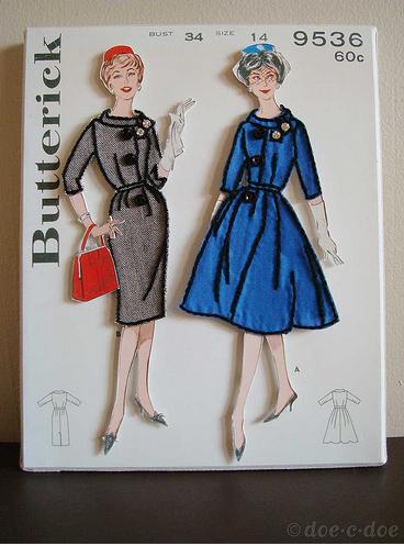 Vintage Sewing Pattern Art