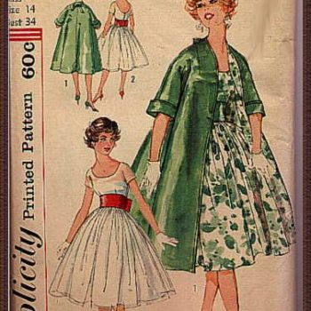Vintage Sewing Pattern Art