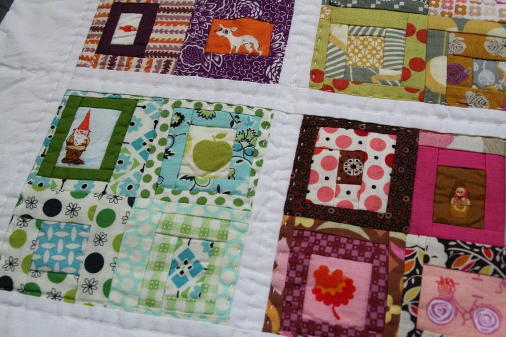 hand-quilted doll quilt