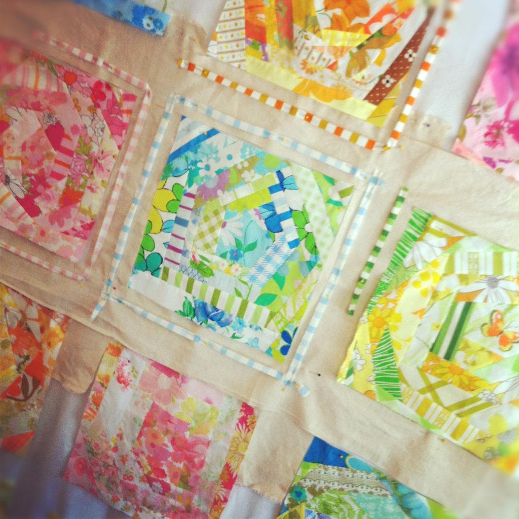 Vintage bed linen quilt