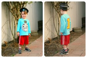 easy thomas the train costume