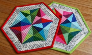 Quilted Holiday Pot Holders from Better off Thread