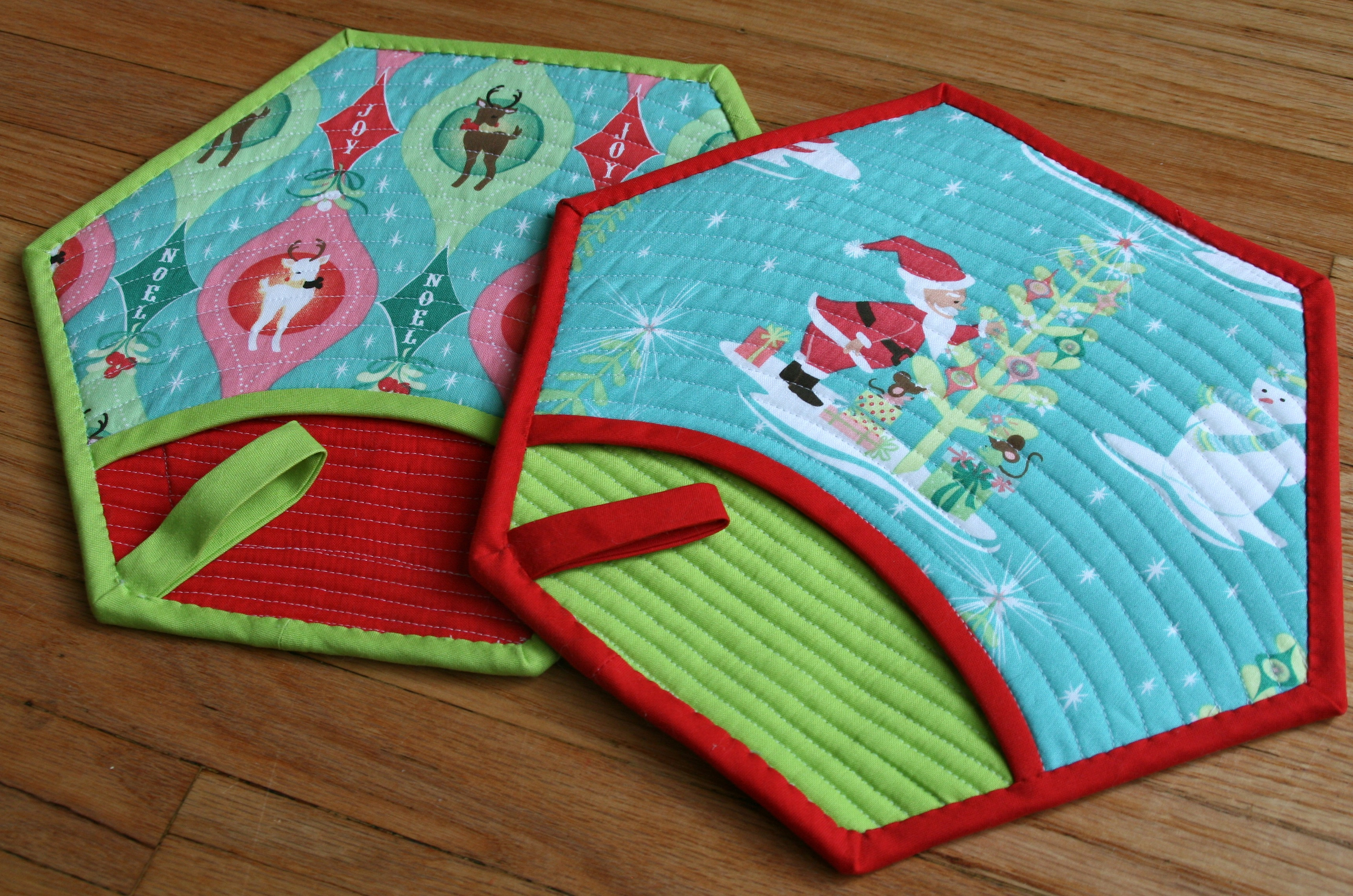 Christmas Quilted Pot holder