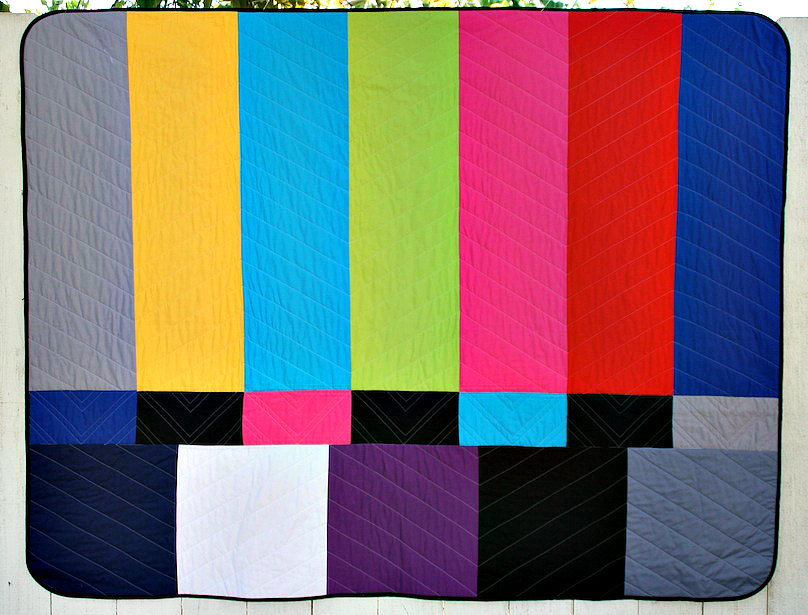 "TV Color Bars Quilt by Betz White from ""We Love Color"""