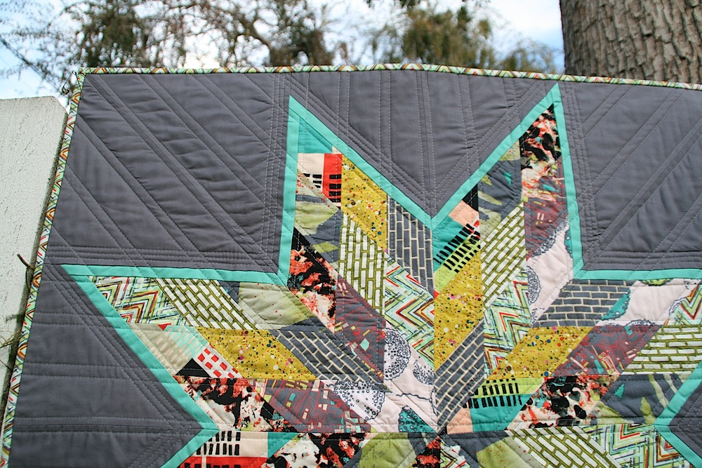 Scrappy Lone Star Quilt