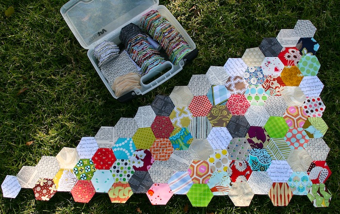 Hexagon paper-pieced Quilt