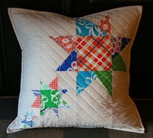 Wonky star pillow