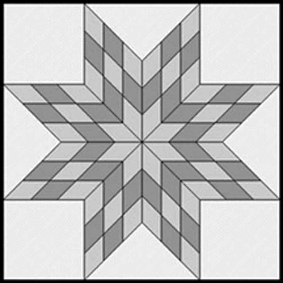 Resizing Your Scrappy Lone Star : star quilt pattern - Adamdwight.com