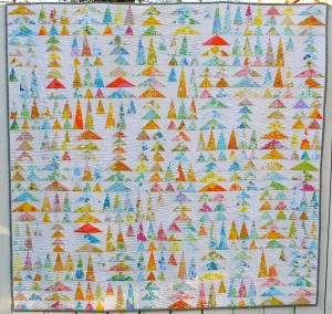 Geese in the Forest, Twiddletails, Flying geese quilt