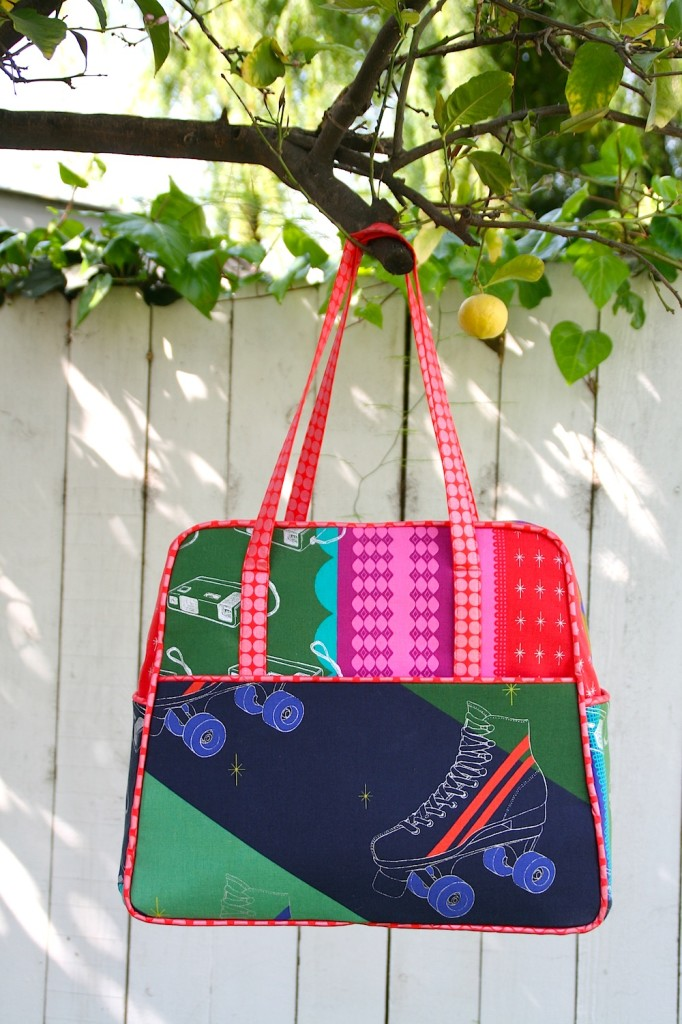 Amy Butler Weekender bag made from Ruby Star Sparkle