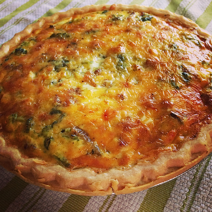 Easy Cheesy Vegetable Quiche by Better Off Thread