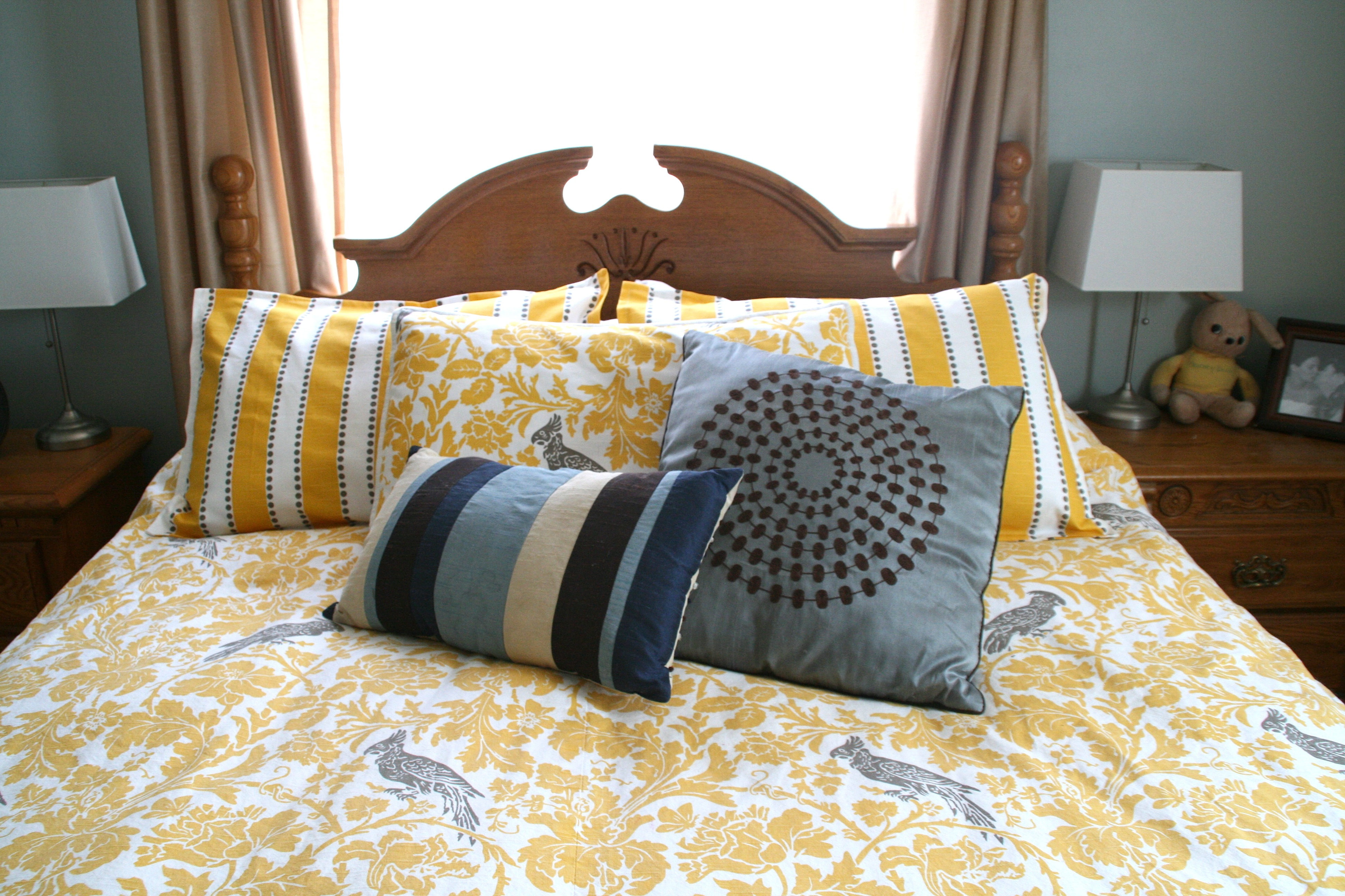 Yellow And Gray Bedding Sets at Home and Interior Design Ideas