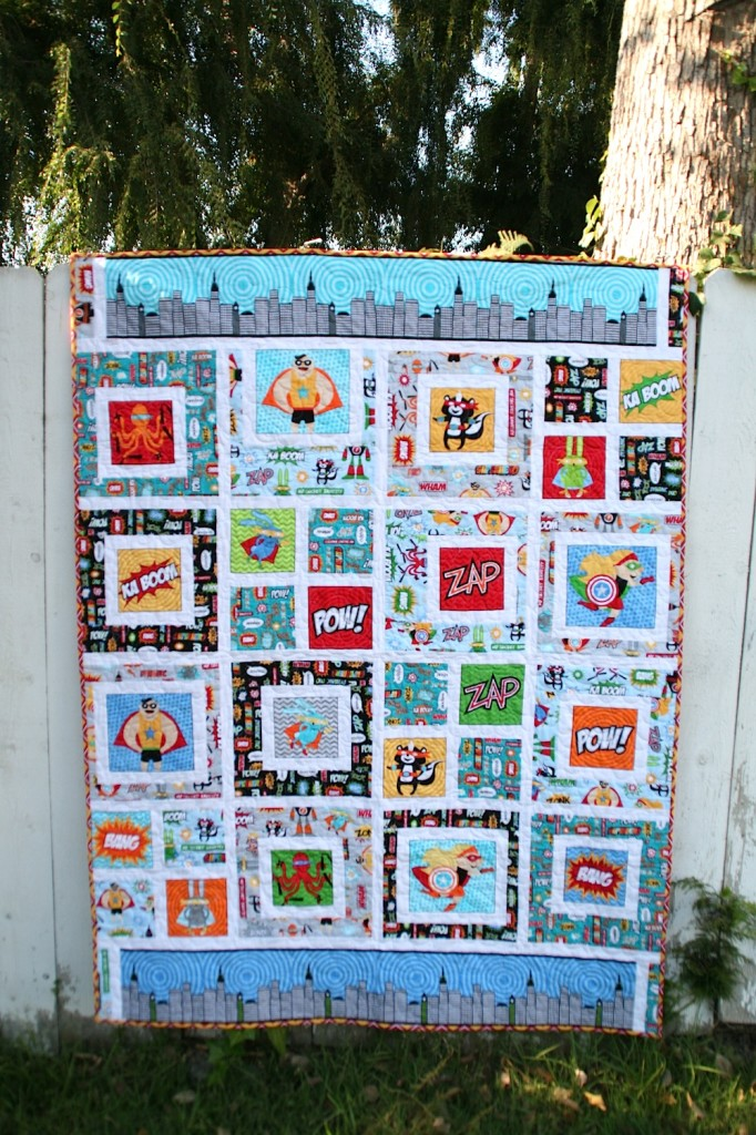 Superhero Baby Quilt from Better Off Thread