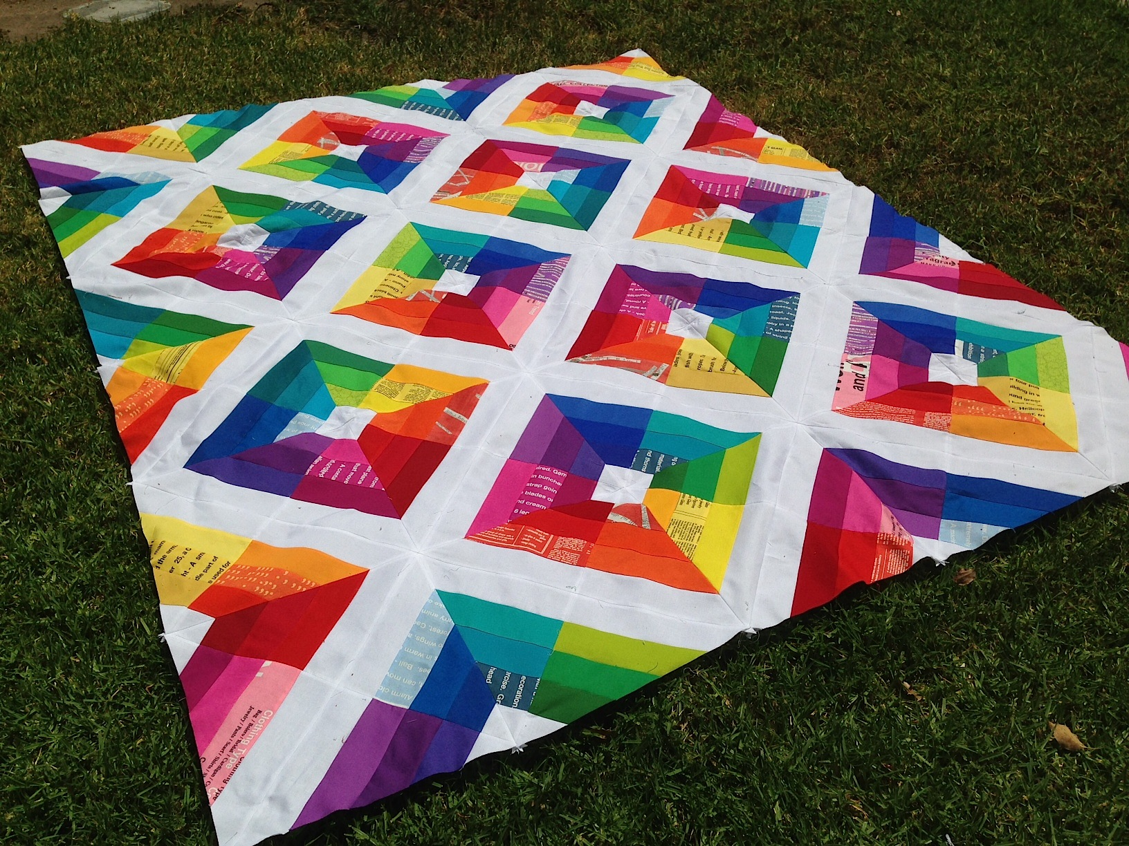 Kite Flight Quilt Top : rainbow quilt pattern - Adamdwight.com