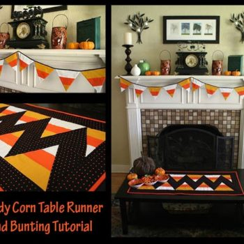 Candy Corn Table Runner and Bunting Tutorial