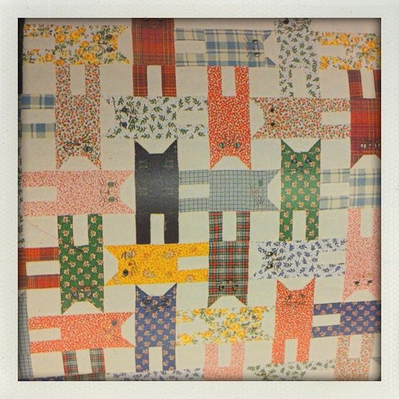 Cat Quilt Block by Better Off Thread