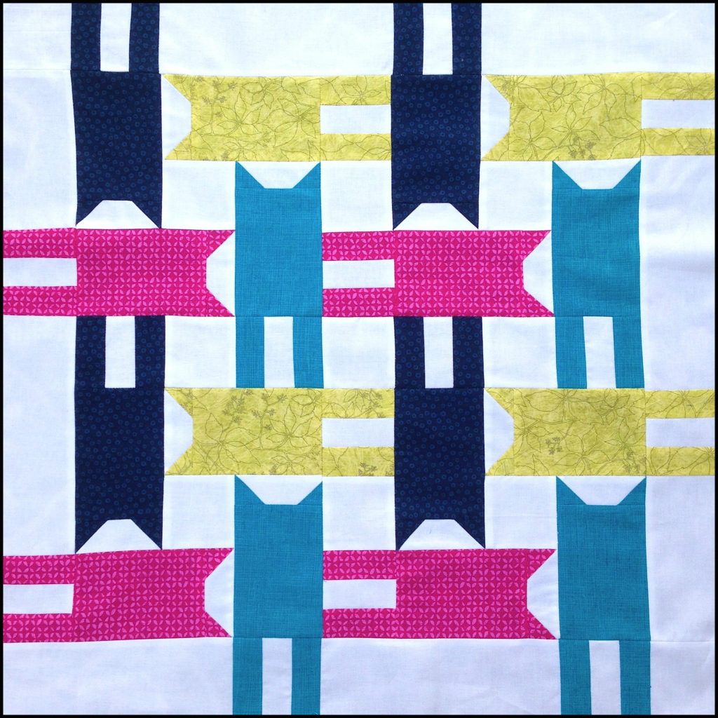 Tumbling Cat Block by Better off Thread