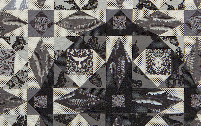 Storm At Sea Quilt by Better off Thread using Jennifer Sampou's Black and White Fabric Collection