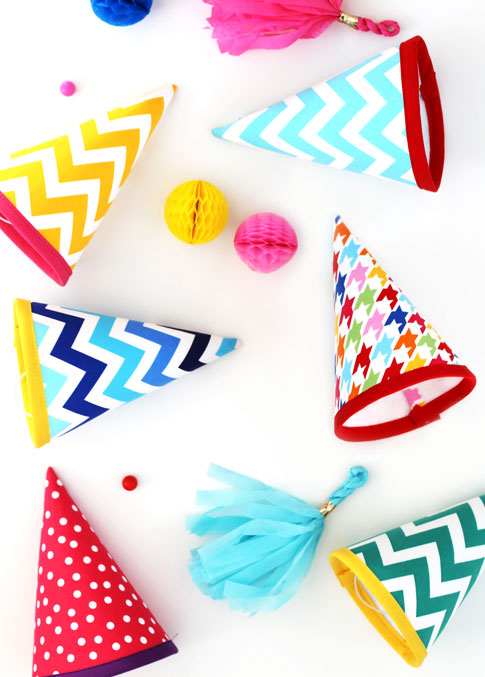 Fabric Party Hat Tutorial