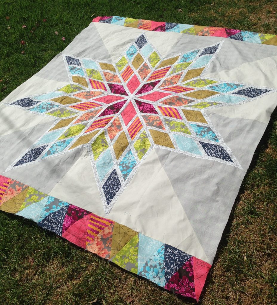 Lone star bed quilt for Bed quilting designs