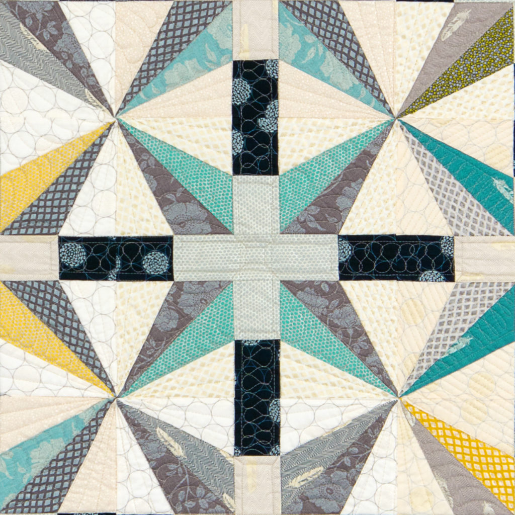 Starry Night Quilt pattern by Janice Ryan, featuring Shimmer II by Jennifer Sampou