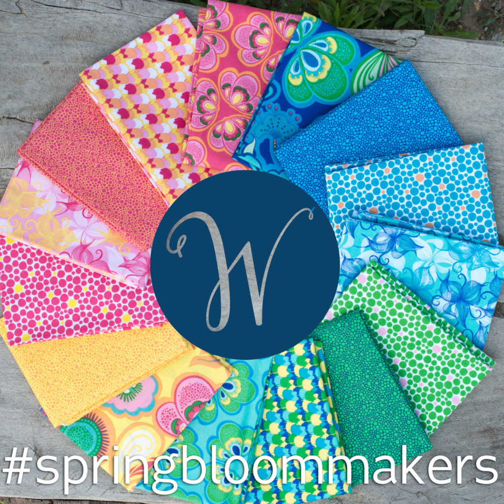 Spring Bloom Blog Hop, Spring Bloom By Bella Caronia for Windham Fabrics