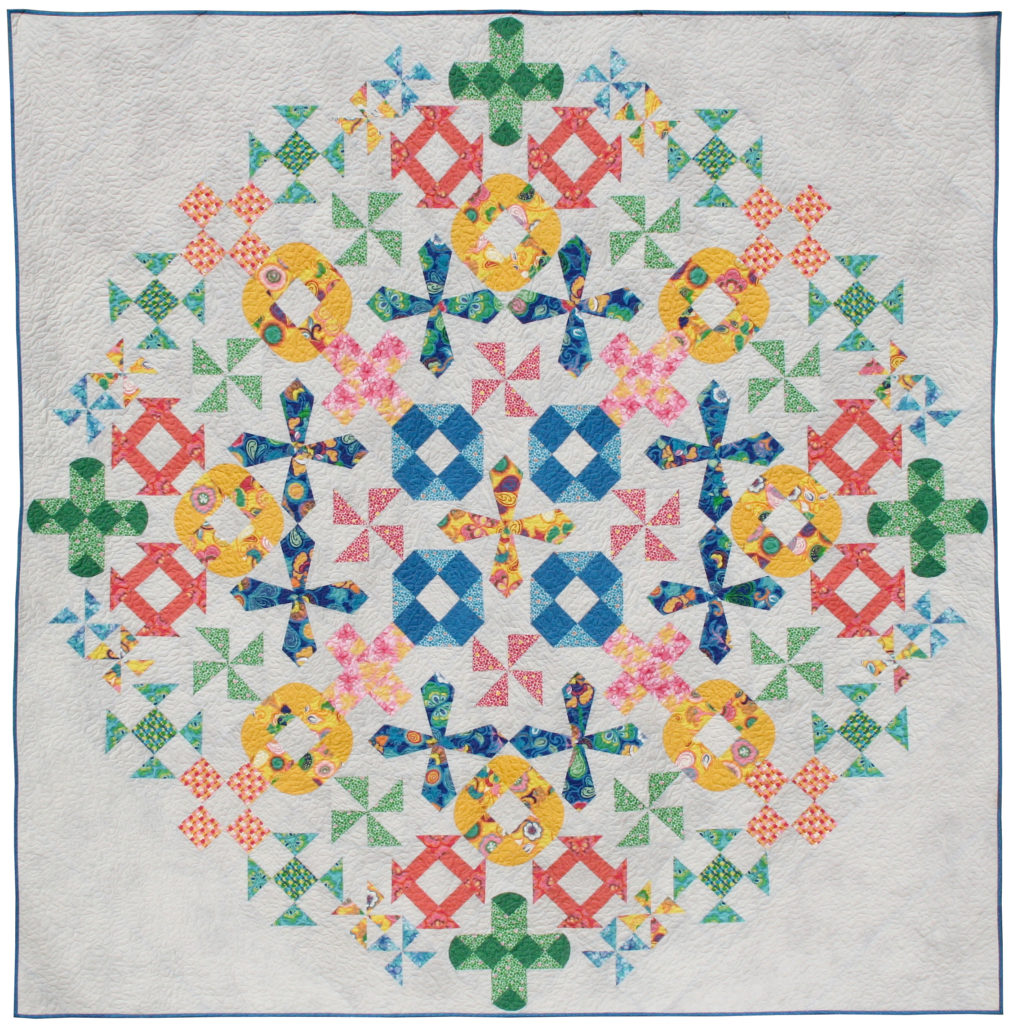 Spring Bouquet Quilt by Better Off Thread featuring Spring Bloom Fabric by Bella Caronia.