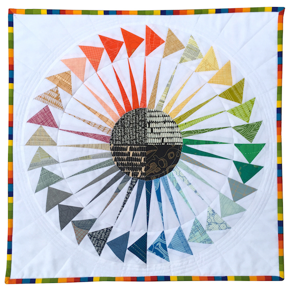 NY Beauty Circle of Flying Geese Mini Quilt